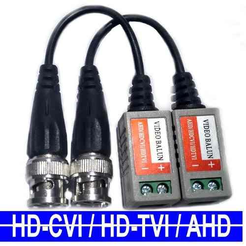 Par de conversor Vídeo Balun trançado passivo AHD / HDCVI / HDTVI  - Esferatronic Comercio e Distribuição