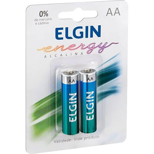 Pilha Alcalina AA Elgin Energy LR06 1,5V (Blister C/2)