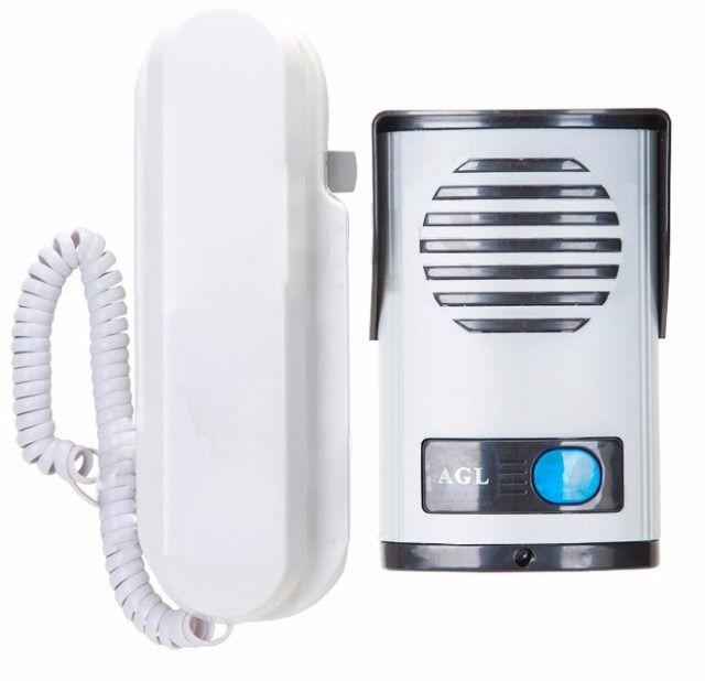 Porteiro Eletrônico Interfone residencial P200 AGL em ABS bivolt c/ saída 12v  - Esferatronic Comercio e Distribuição