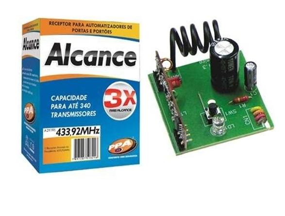 Receptor para portão eletrônico Alcance 433Mhz - PPA
