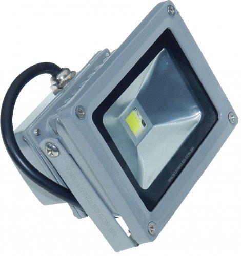 Refletor Led 10w Holofote Bivolt A Prova D'água Branco Frio