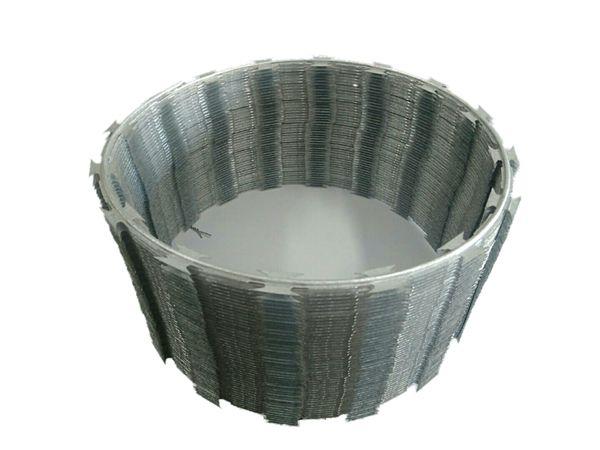 Rolo Cerca de Ouriço/concertina Galvalume 30cm - Faz Até 10 Metros