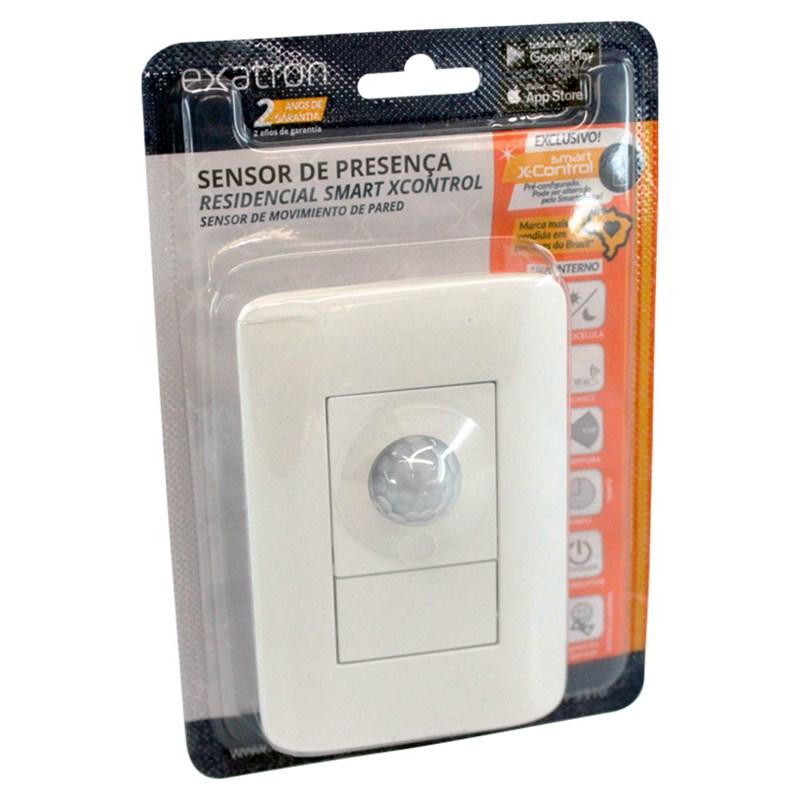 Sensor de presença Iluminação Touch Modular Auto/On/Off Bivolt Exatron