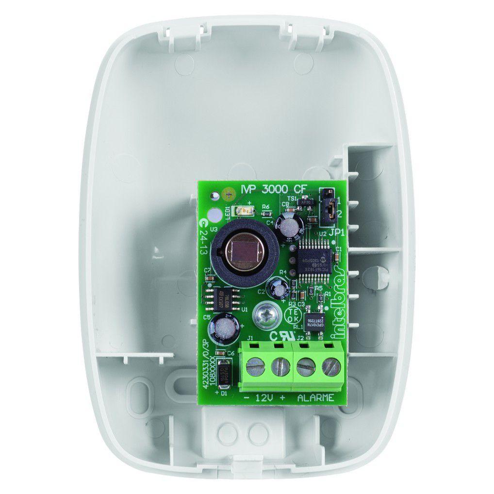 Sensor infravermelho com fio IVP 3000 CF - Intelbras