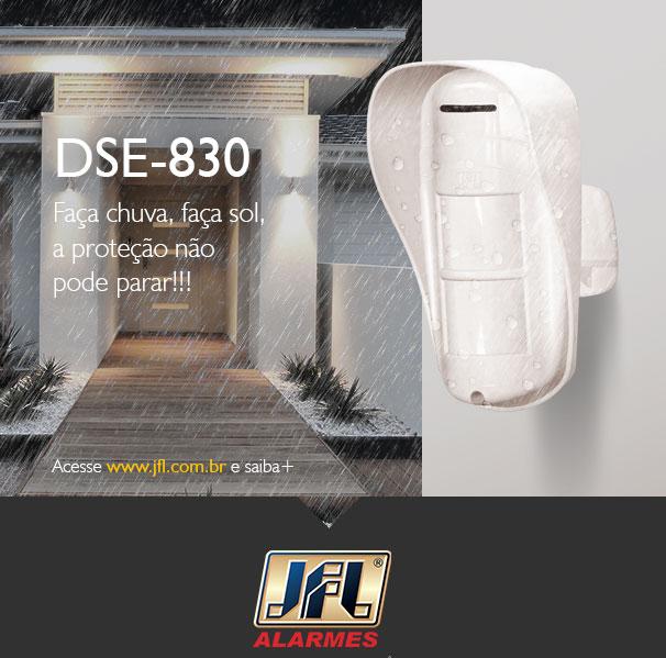 Sensor Infravermelho Externo Pet DSE-830 com fio - JFL