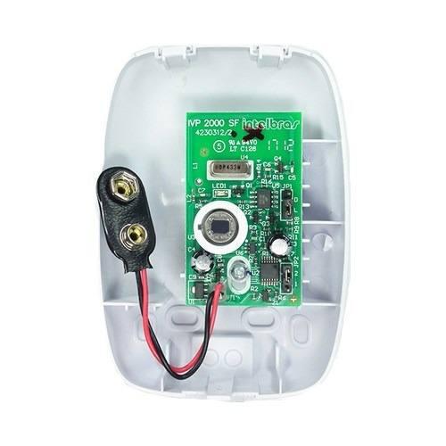 Sensor infravermelho passivo sem fio IVP2000sf Intelbras