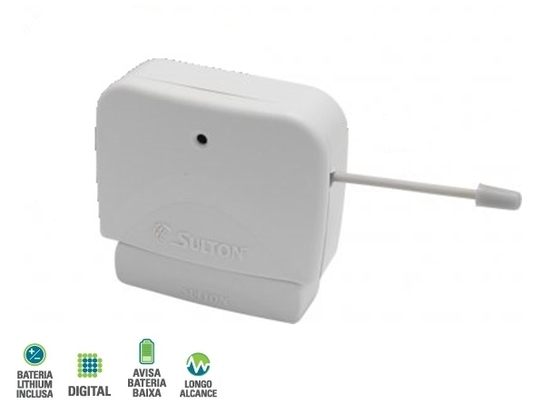 Sensor magnético sem fio digital SMW100 Logo alcance - Sulton