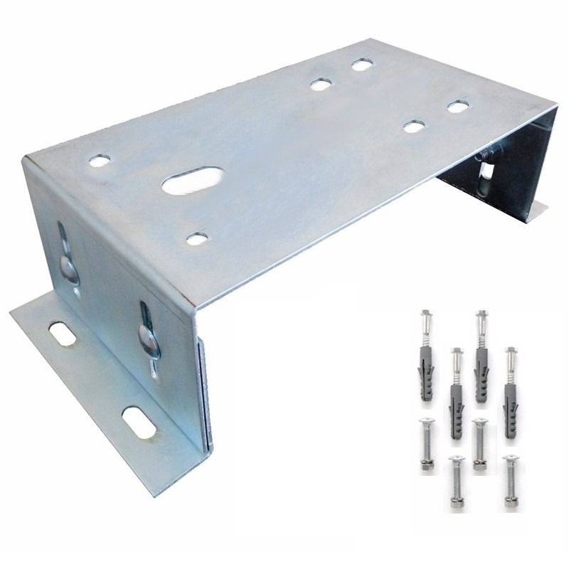 Suporte Base Zincada Fixação Motor Portão Eletrônio Deslizante
