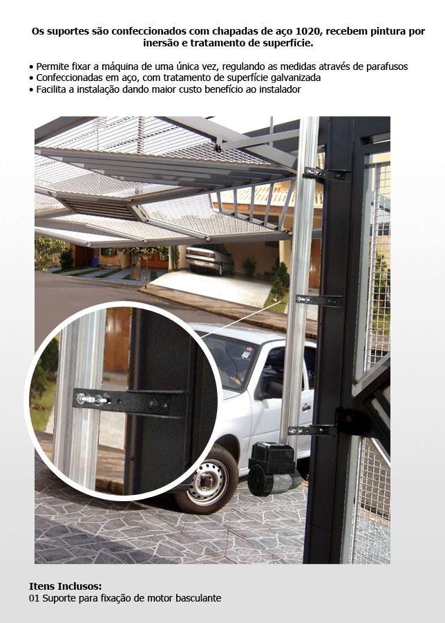 Suporte para fixação de motor basculante em portão
