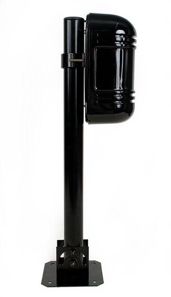 Suporte para sensor barreira ativo e câmera de segurança com base articulável  - Esferatronic Comercio e Distribuição