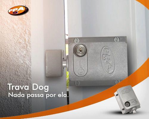 Trava Elétrica Dog Ppa C/ Modulo Relé P/ Portão Eletrônico