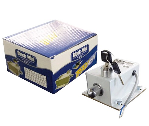 Trava eletromagnética Block mini temporizada - Travbem  - Esferatronic Comercio e Distribuição