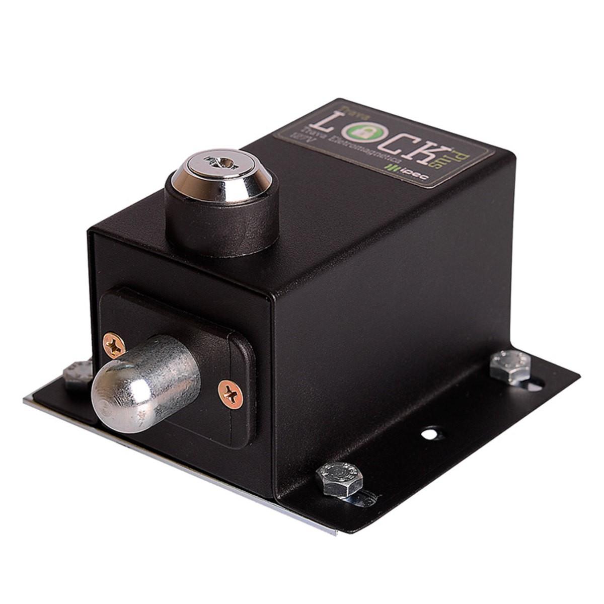Trava eletromagnética lock plus com temporizador para portão eletrônico - marca Ipec