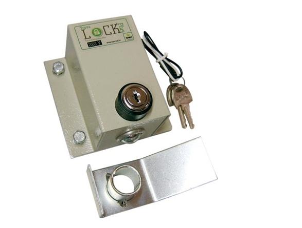 Trava eletromagnética lock plus com temporizador para portão eletrônico - marca Ipec  - Esferatronic Comercio e Distribuição