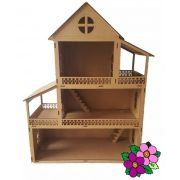 Casa  Boneca Modelo C7 para Bonecas Polly Barbie Pocket e Similres