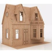 Casa De Bonecas em Mdf Para Polly Barbie Pocket e Similares Modelo C4