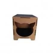 Nicho Toquinha Gato - Nicho de Chão (Toca) para Gato em MDF de 6mm com Encaixe