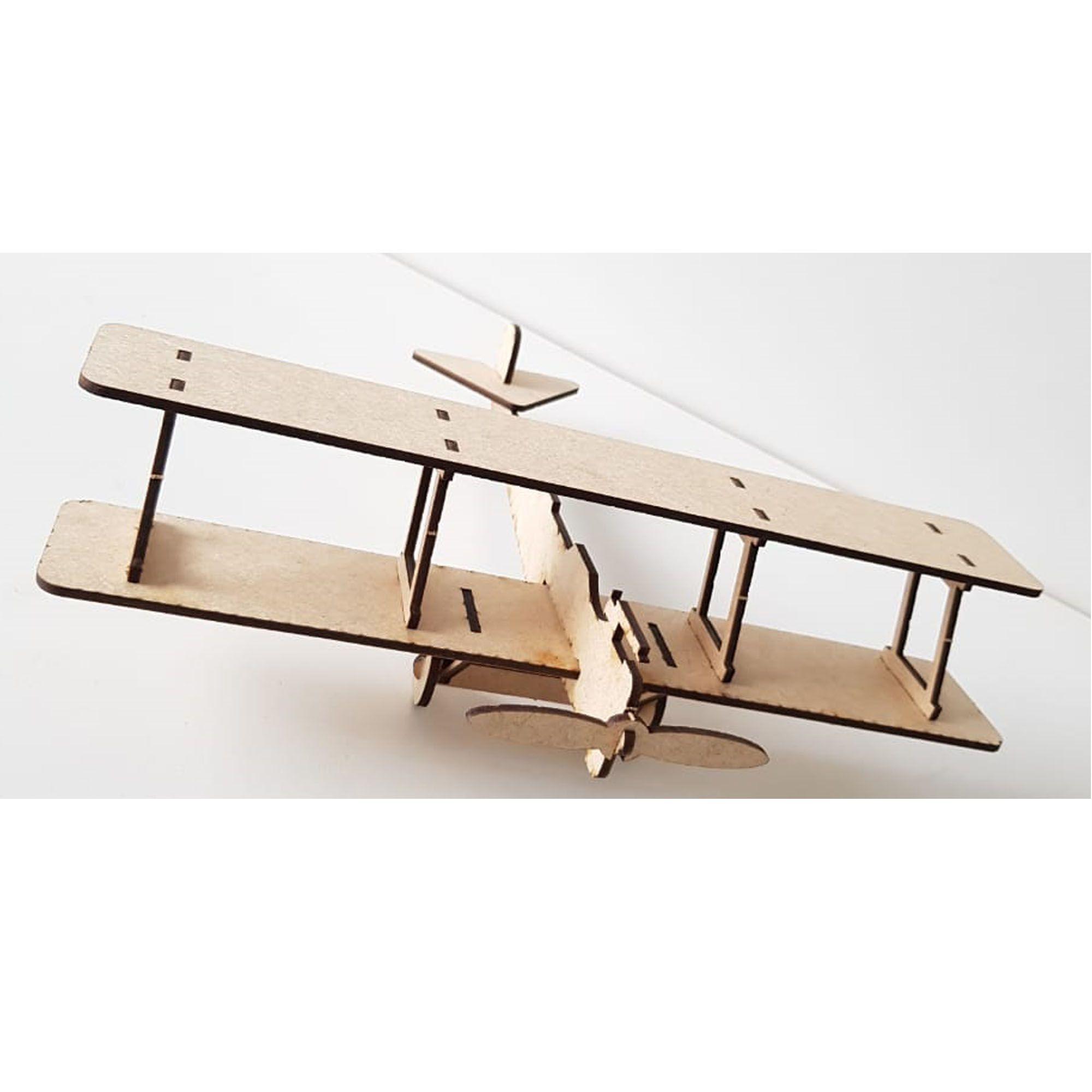 Avião Biplano Av03 para Brincar, Colecionar,  Decorar ou para Presentear como Lembrança de Aniversário
