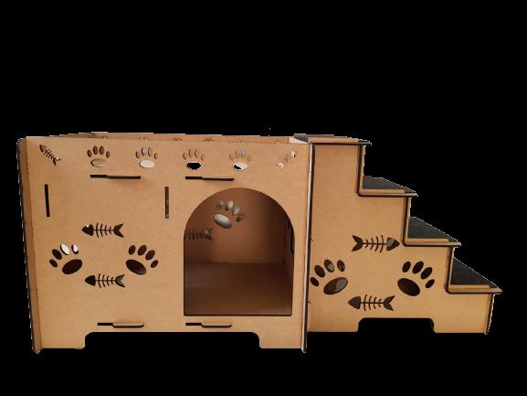 Cama Gato - Cama Beliche para  Gato em Mdf 6mm - Caminha Pet Dog