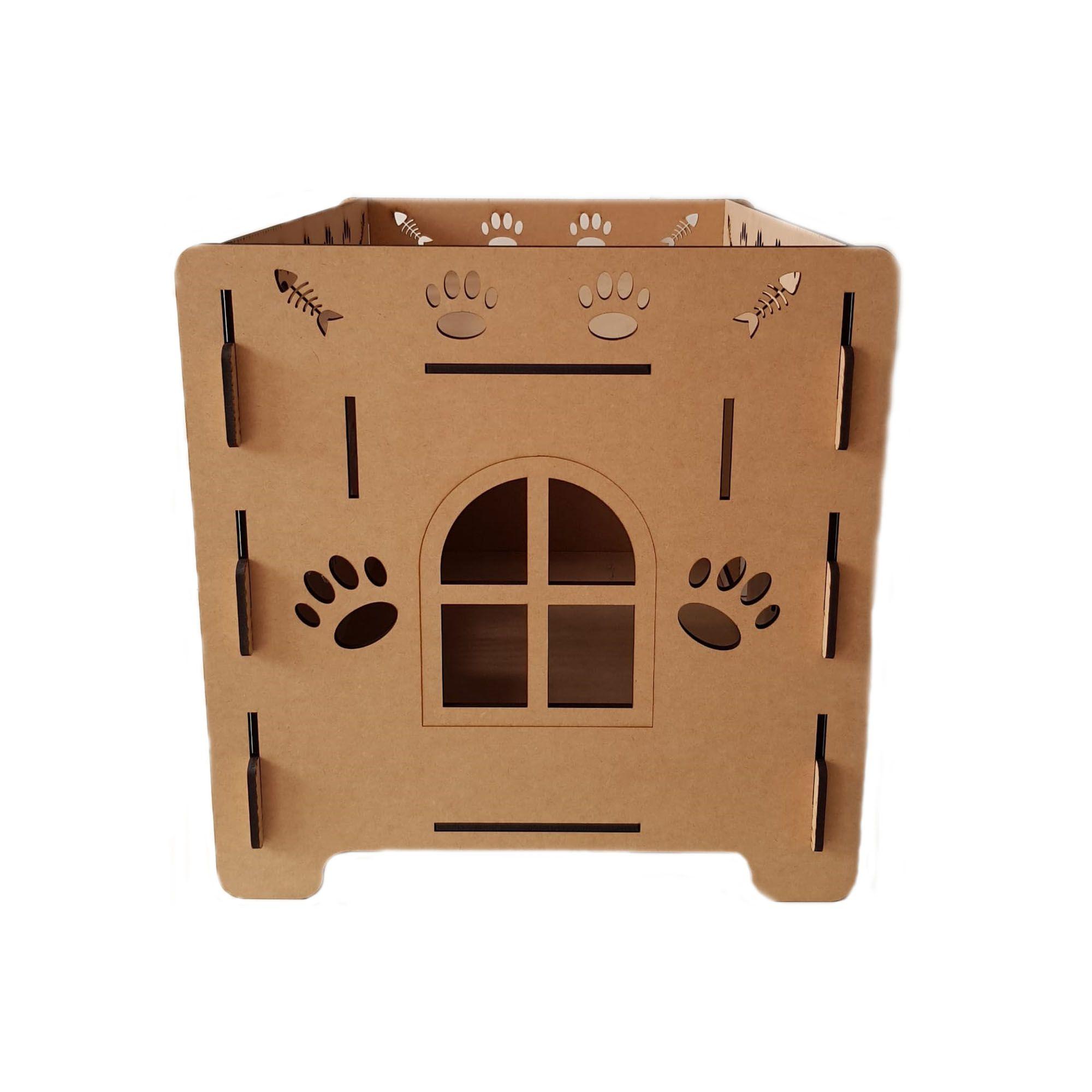 Cama Gato - Cama Beliche para  Gato SEM escada em Mdf 6mm - Caminha Pet Dog