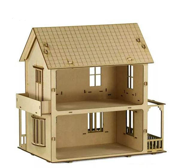 Casa Boneca Modelo C2 para Polly, Barbie Pocket e Similres