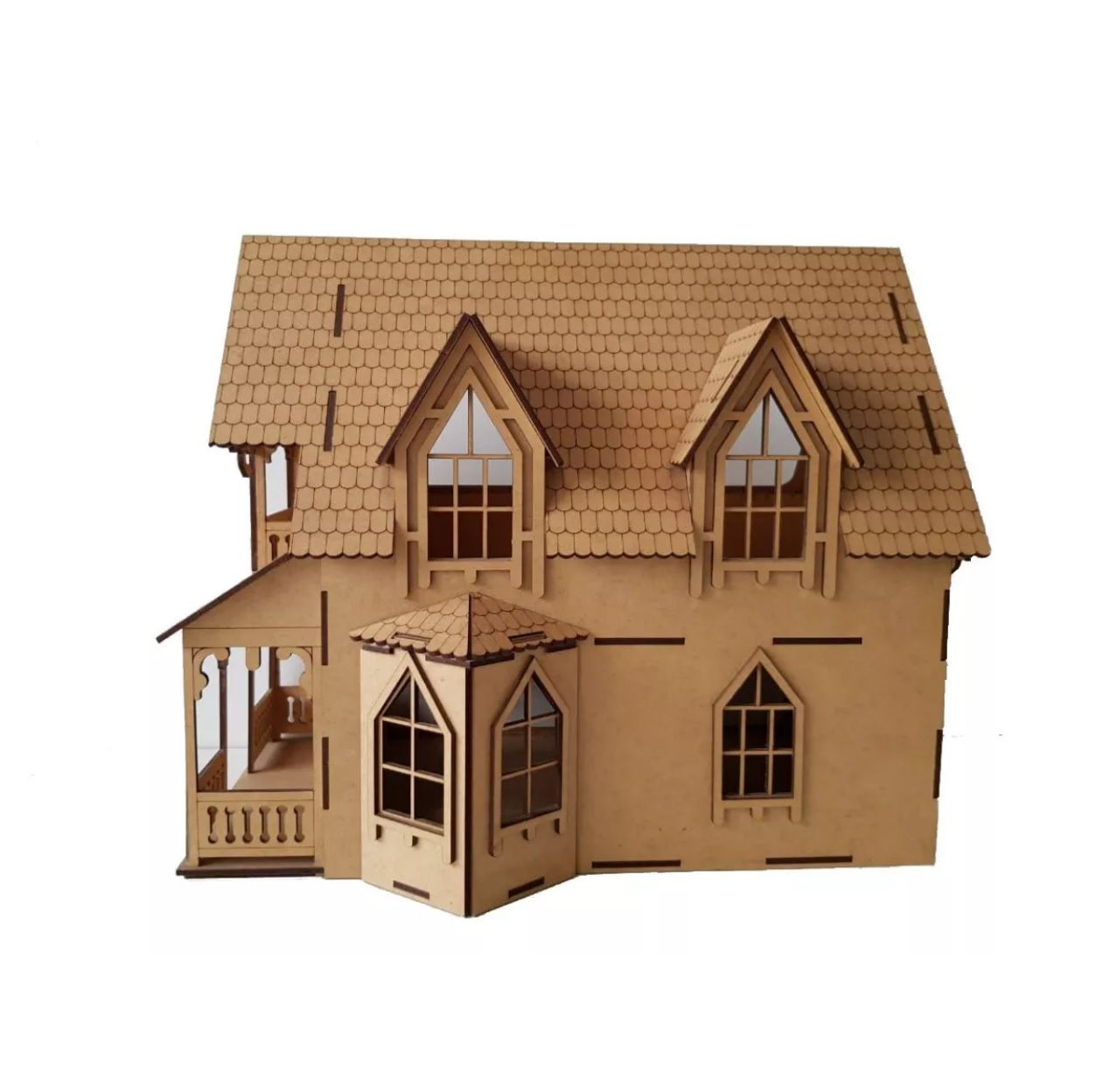 Casa Bonecas em Mdf  para Polly, Barbie Pocket  e Similares Modelo C11