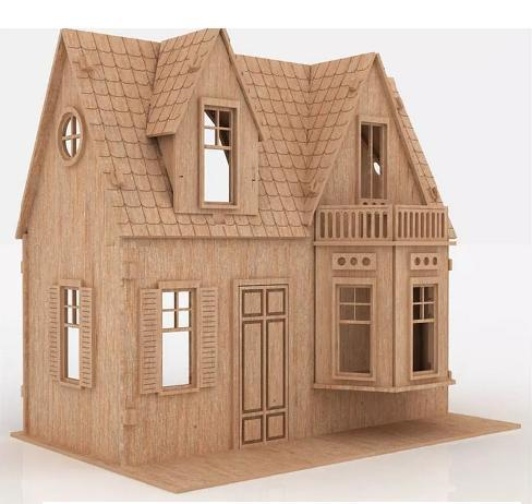 Casa De Bonecas Modelo C4 Para Polly Barbie Pocket e Similares