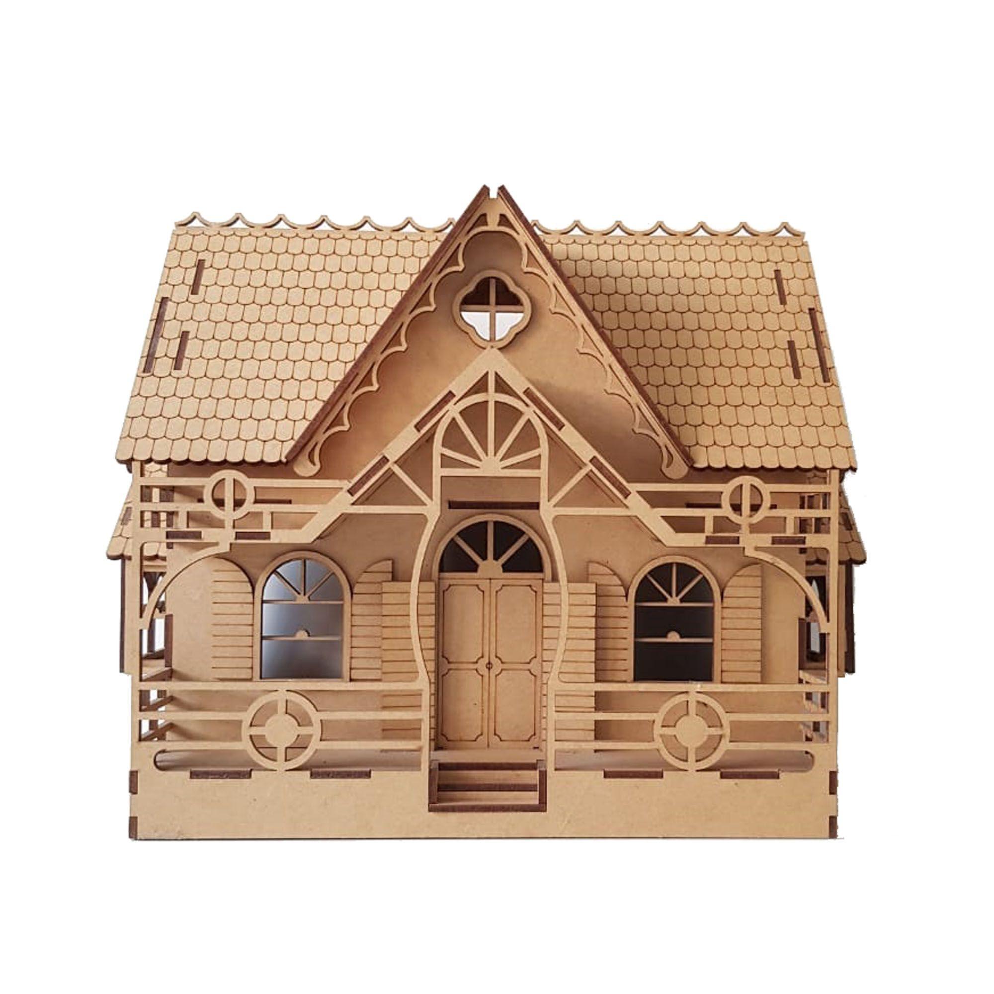 Casa de Bonecas em Mdf para Polly, Barbie Pocket e tamanhos Similares C8