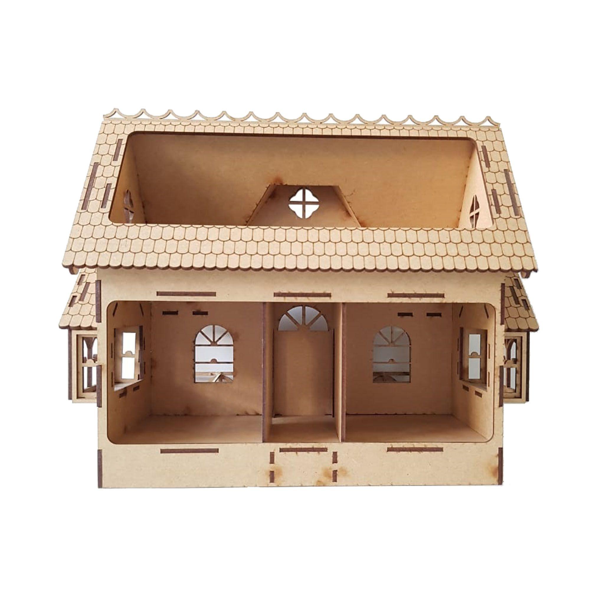 Casa de Bonecas Modelo C8 para Polly, Barbie Pocket e tamanhos Similares