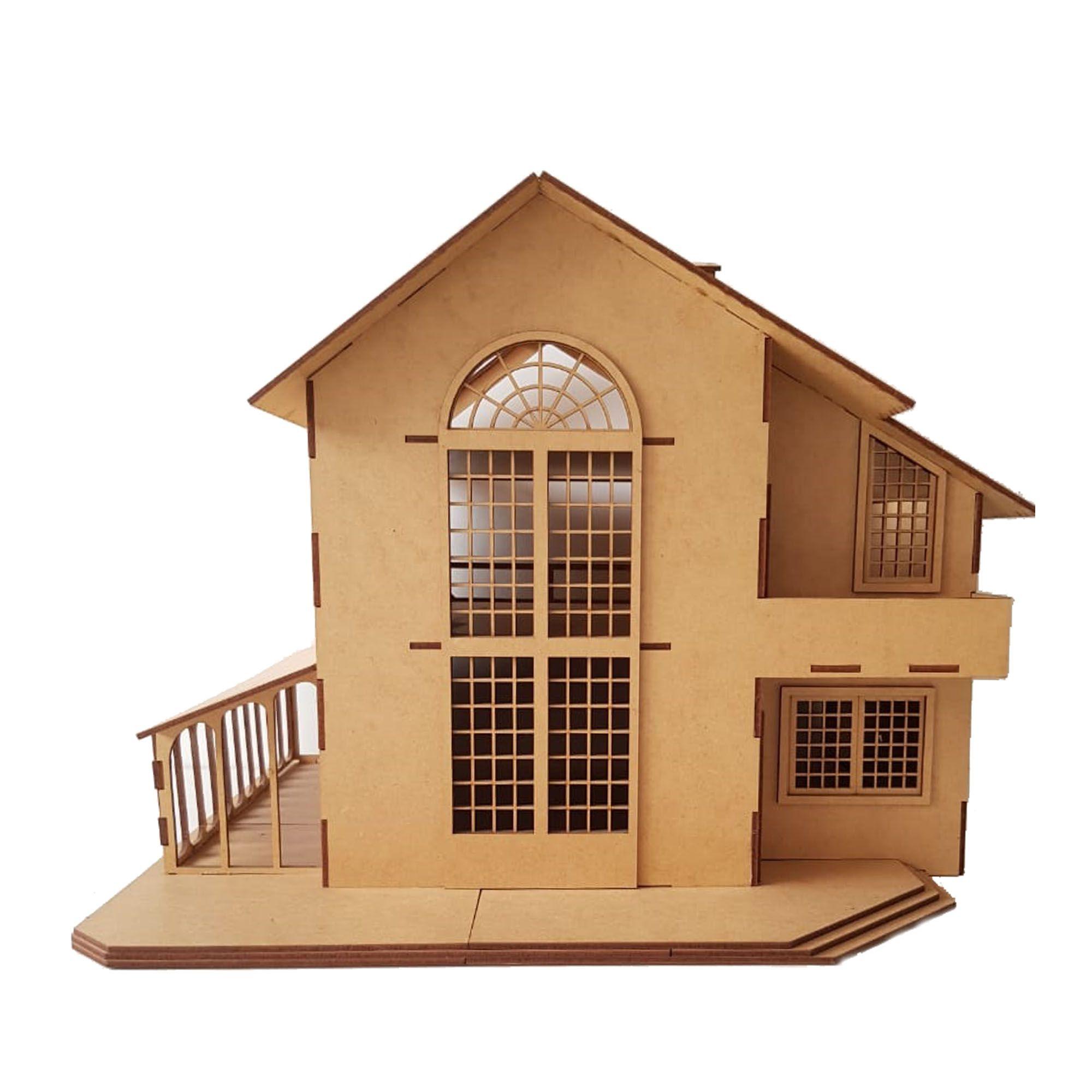 Casa De Bonecas Mdf Para Polly, Barbie Pocket e Similares C9
