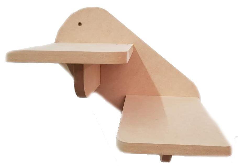 Escada Gato - Escada de parede para Gato com 2 degraus - Pet Mdf 15mm