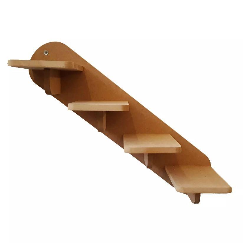 Escada Gato - Escada de parede para Gato com 4 Degraus -  Pet Mdf 15mm