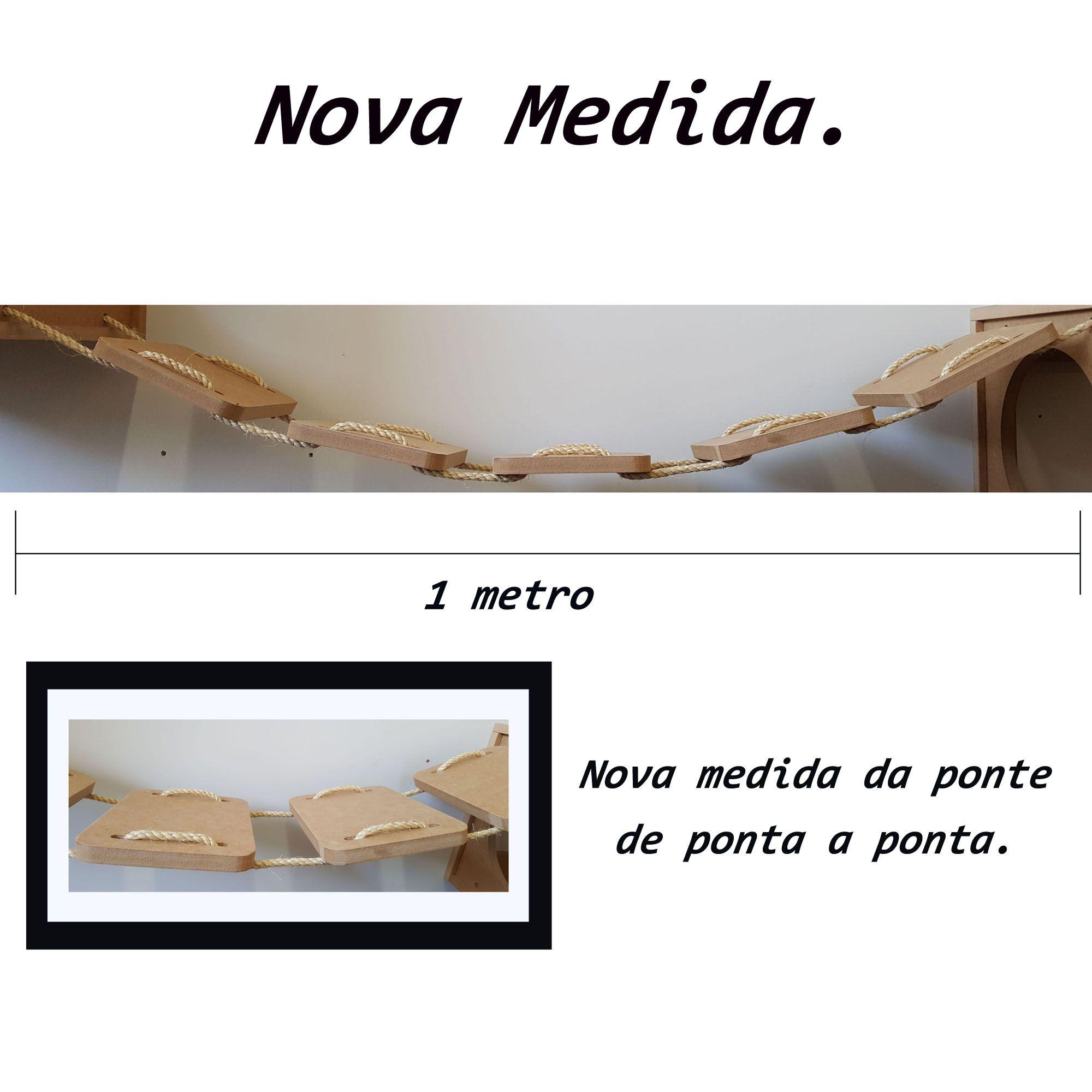 Nicho Gato - Kit Nicho para Gato - 3 peças = 2 Nichos + 1 Ponte Para Gatos Em Mdf 15mm
