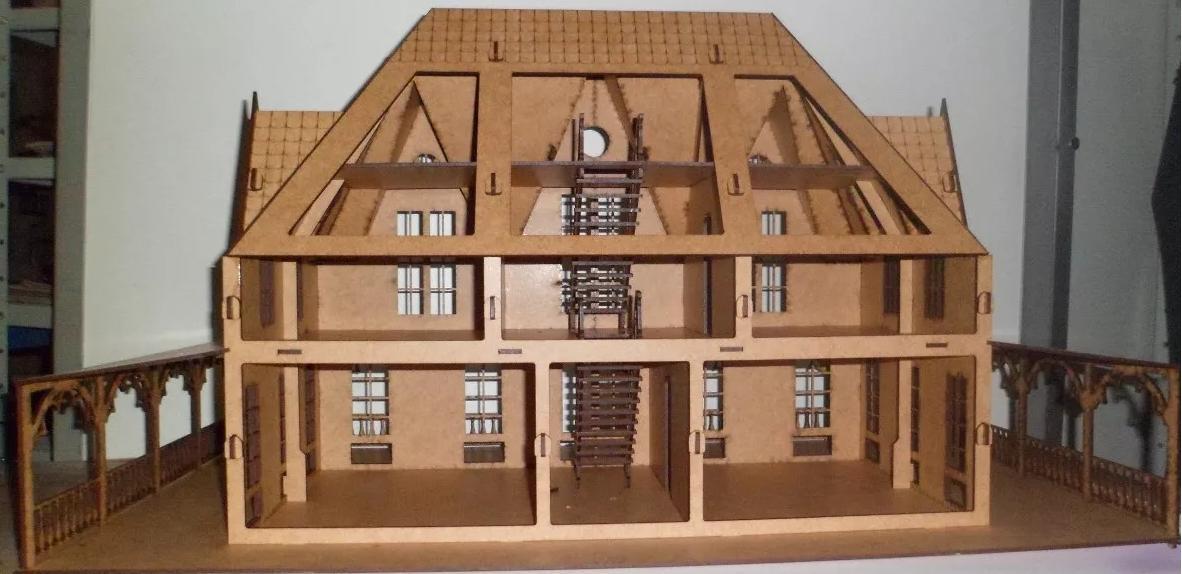 Mansão 3 andares em Mdf para Bonecas Polly , Barbie Pocket  e Tamanho Similares .