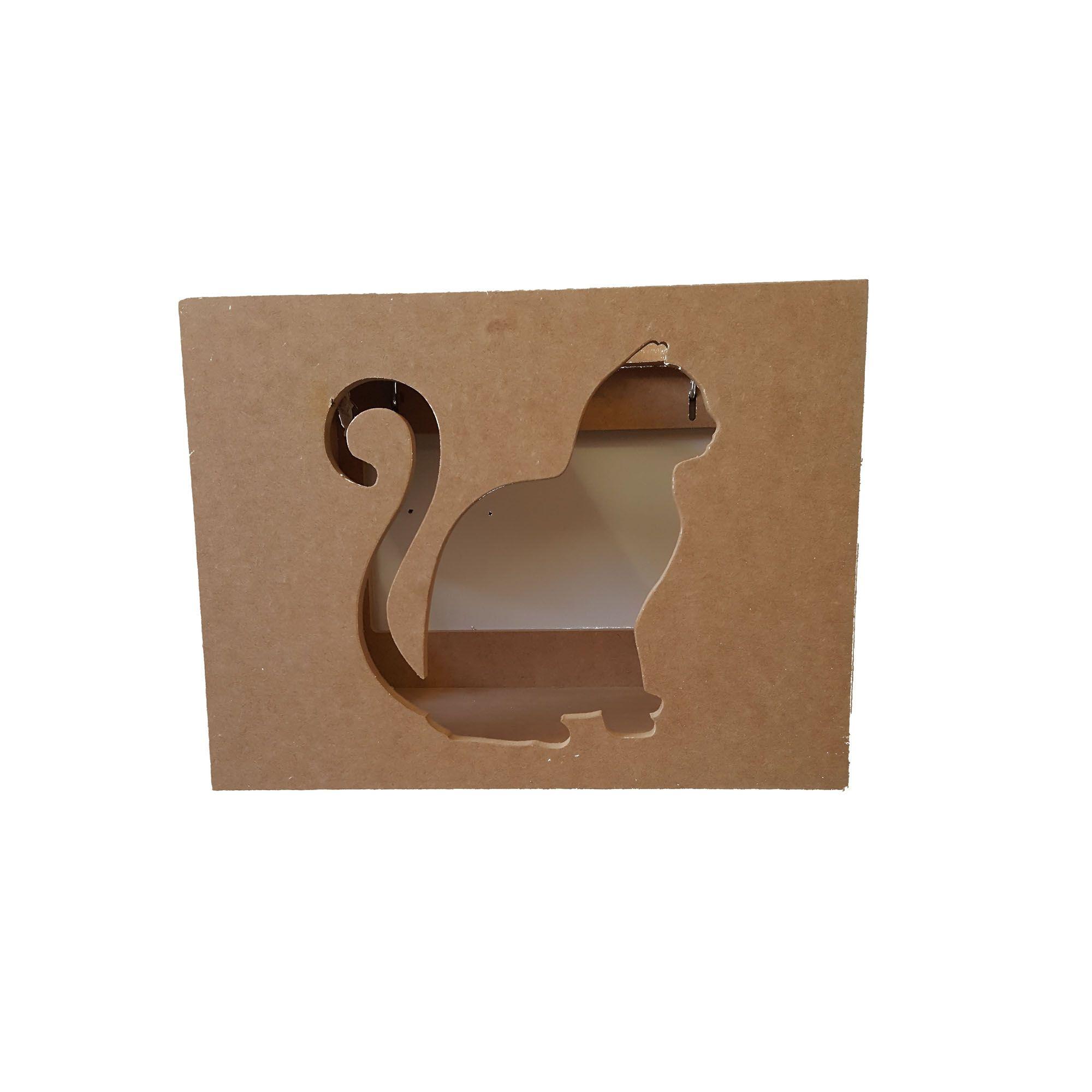 Nicho Gato- Nicho para Gato com abertura lateral e superior  - Pet Em Mdf 15mm
