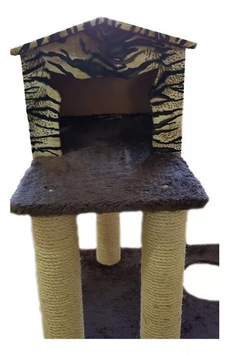 Play para Gato - Arranhador Playground para Gato Com Colunas Em Sisal e pelúcia.