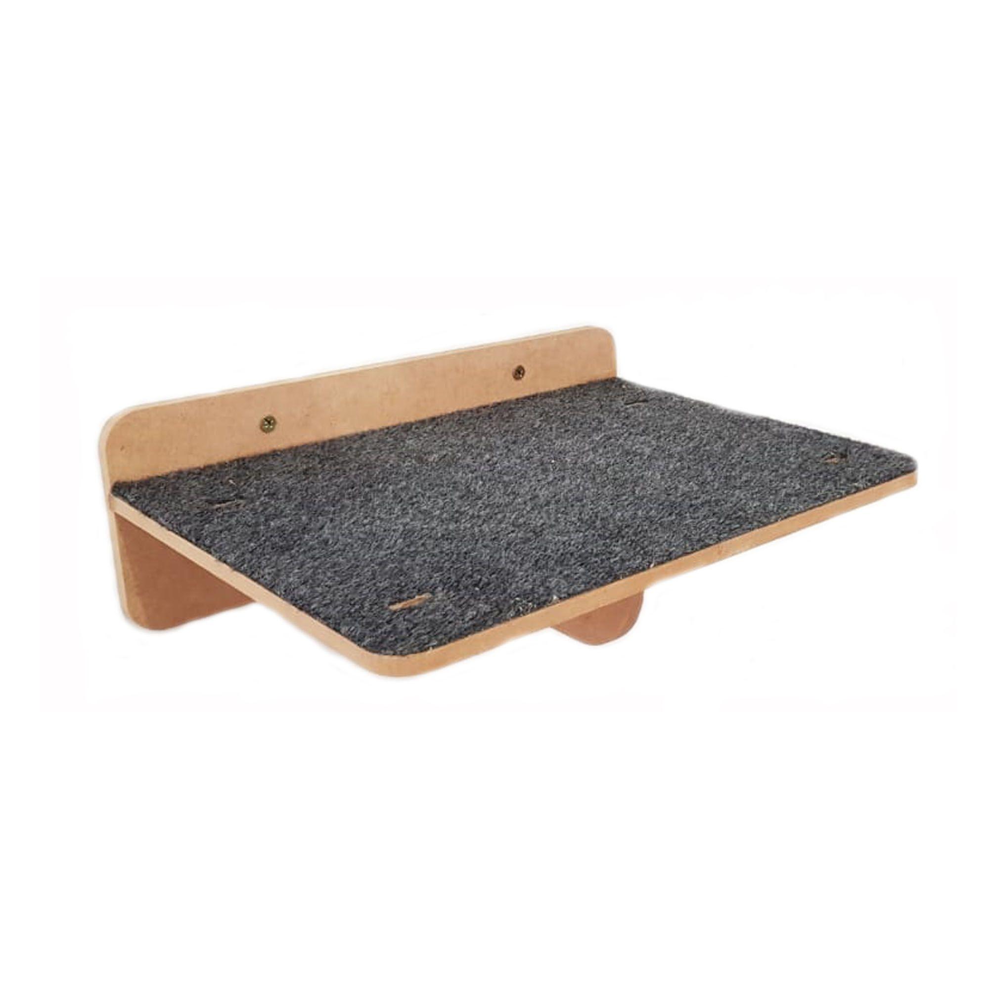 Prateleira GRANDE 60x25 Arranhador Carpete p/ Gato Pet Mdf 15mm
