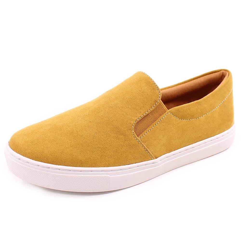 Slip On Duchi Camurça Amarelo