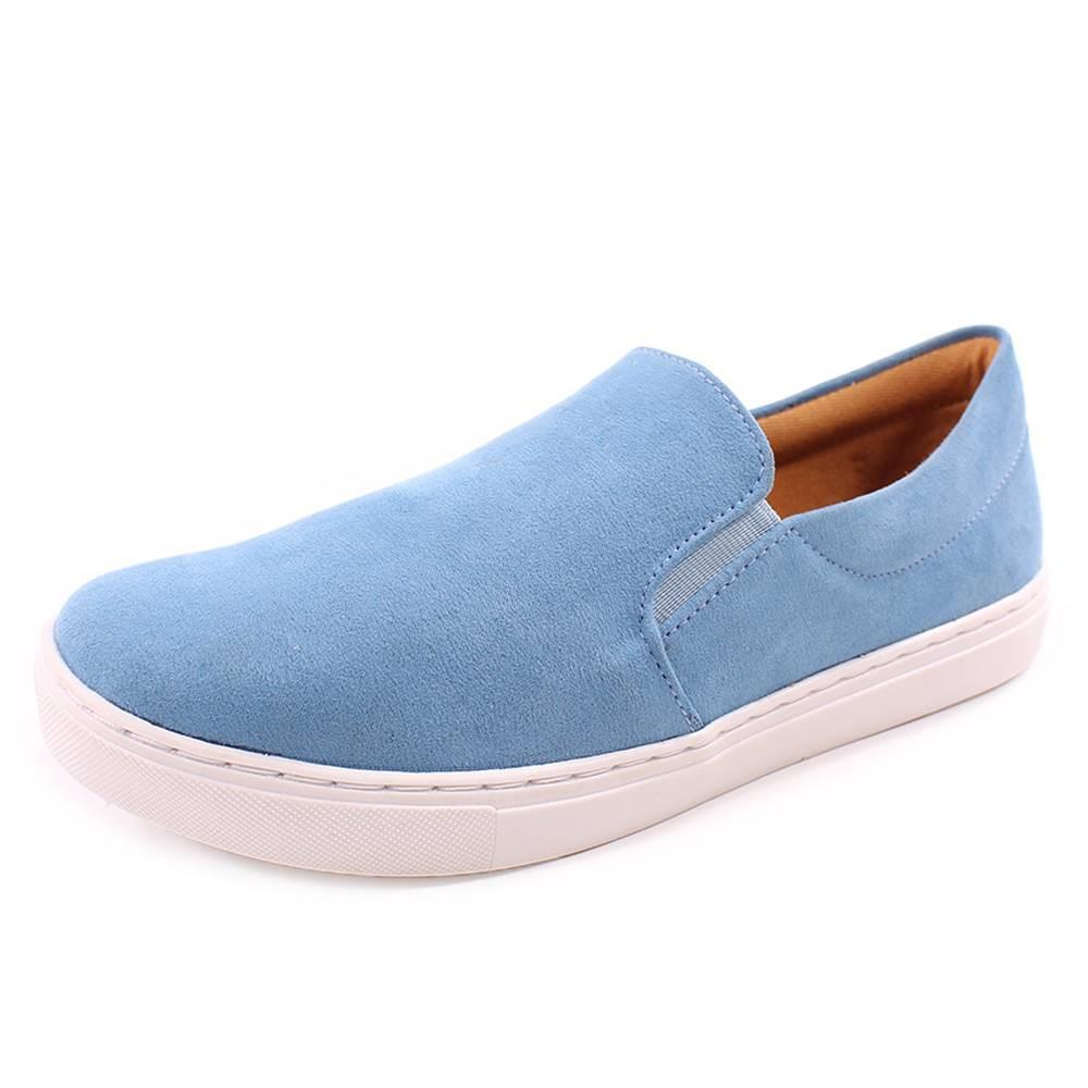 Slip On Duchi Camurça Azul