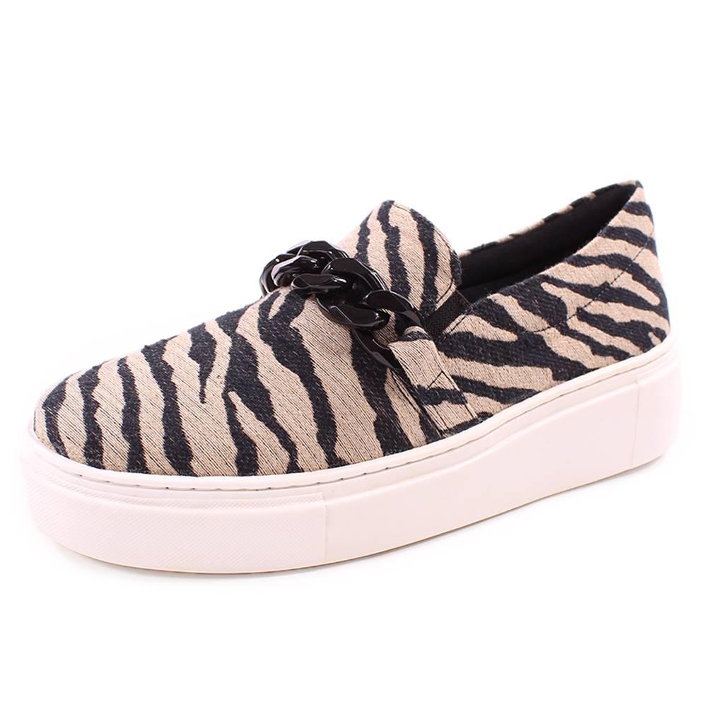 Slip On Duchi Corrente Zebra Preto