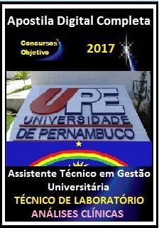 Apostila Concurso UPE 2017 - Assistente Téc em Gestão Universitária - TÉCNICO DE LABORATÓRIO/ ANÁLISES CLÍNICAS
