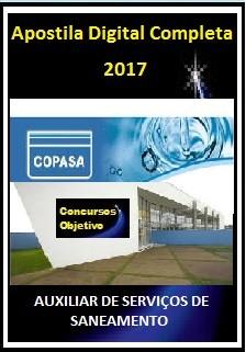 Apostila COPASA MG 2017 - AUXILIAR DE SERVIÇOS DE SANEAMENTO