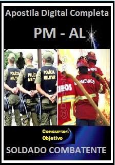 Apostila Polícia Militar de Alagoas AL 2017 - SOLDADO COMBATENTE  PM