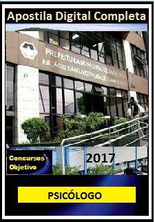 Apostila Prefeitura de Divinópolis MG 2017 - PSICÓLOGO