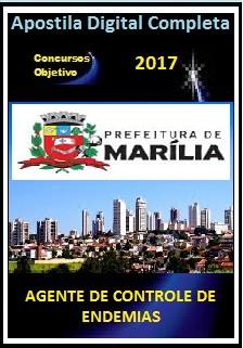 Apostila Prefeitura de Marília 2017 - AGENTE DE CONTROLE DE ENDEMIAS