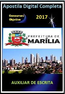 Apostila Prefeitura de Marília 2017 - AUXILIAR DE ESCRITA