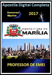Apostila Prefeitura de Marília 2017 - PROFESSOR DE EMEI