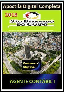 Apostila Prefeitura de S. Bernardo do Campo 2018 - AGENTE CONTÁBIL I