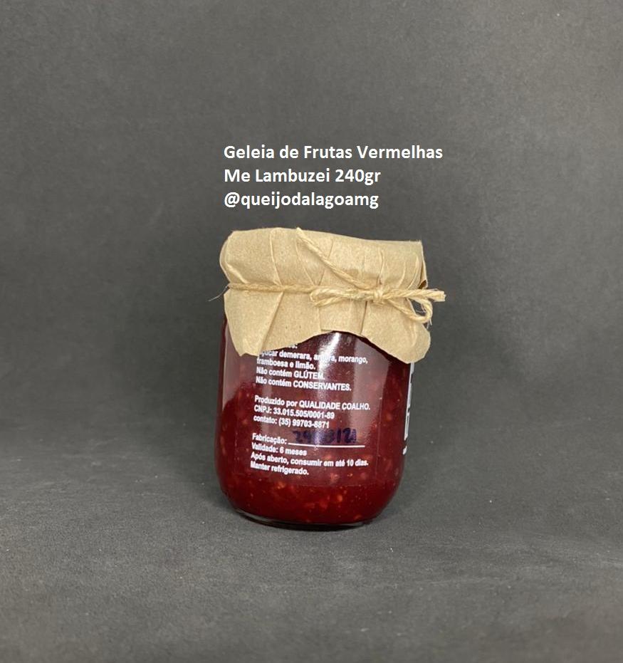 Geleia de Frutas Vermelhas Me Lambuzei 240g