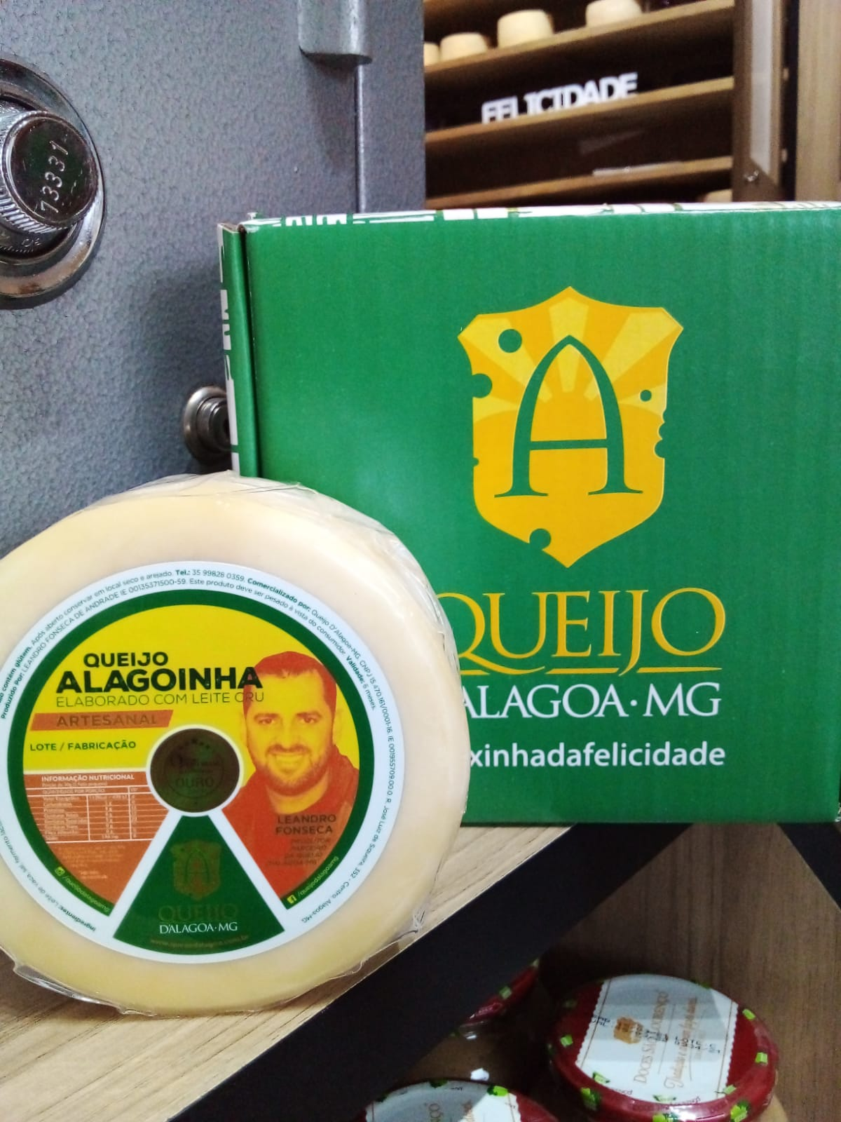 Queijo Artesanal Alagoinha - Medalha do Ouro no V Prêmio Queijo Brasil! Queijo d'Alagoa-MG